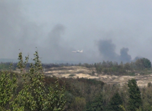Свирепый пожар вторые сутки тушат 800 человек в Ростовской области