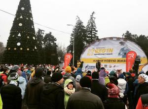В первое утро нового года ростовчане вышли на пробежку вместе с мэром Кушнаревым