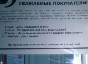 В Ростовской области проходит третий «день трезвости»