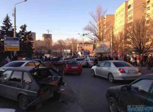 В Ростове столкнулись 11 автомобилей