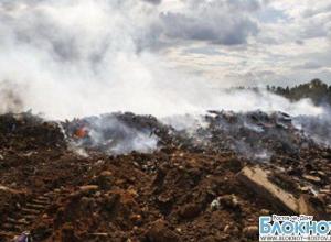 В Ростове возле Северного кладбища третьи сутки горит несанкционированная свалка