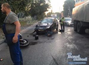 Мотоциклист погиб в массовой аварии на Нансена