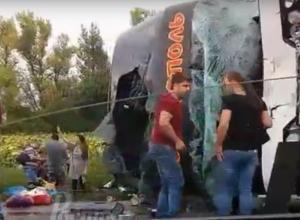 Страшное ДТП с десятками пострадавших произошло в Ростовской области