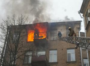 Мужчина сгорел заживо при пожаре в пятиэтажном жилом доме в Ростовской области