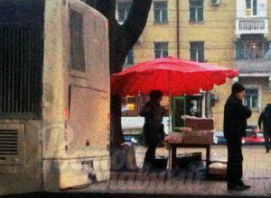 Продажа на остановке куриного мяса с выхлопными газами возмутила жителей Ростова