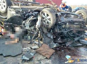 В Ростовской области при столкновении четырех автомобилей 3 погибли, 3 пострадали. Фото