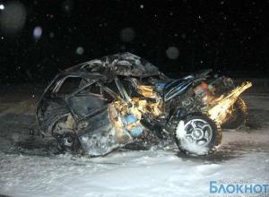 В Ростовской области «Нива» загорелась после столкновения с фурой, водитель и пассажир погибли