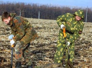 Донские поисковики нашли останки 10 советских пулеметчиков, погибших на Миус-фронте