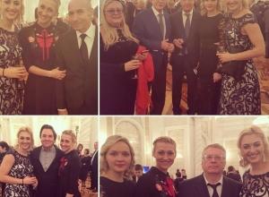 Ростовские красавицы-гандболистки вместе с Михалковым, Эрнстом и Жириновским оказались на новогоднем приеме в Кремле