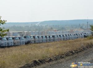 Гуманитарный конвой для Донбасса застрял в Ростовской области