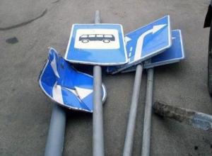 20-летний байкер в Ростовской области оказался ловким расхитителем дорожных знаков