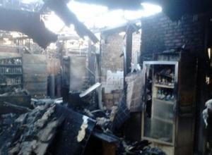 В Ростовской области сгорел продуктовый магазин