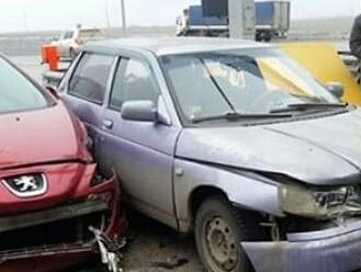 Глупая гонка за оплатой проезда по дороге в Ростовской области закончилась серьезной аварией