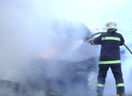 В Ростове сгорела иномарка