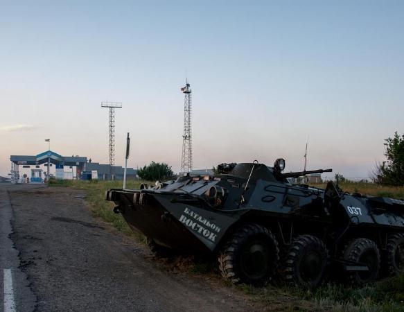 Появилось видео с места боя на ПП «Мариновка» рядом с границей Ростовской области