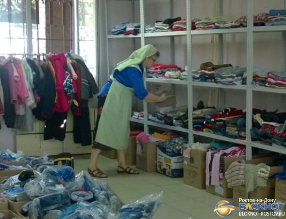 Донская митрополия доставила партию гуманитарного груза в лагерь для беженцев в Новошахтинске