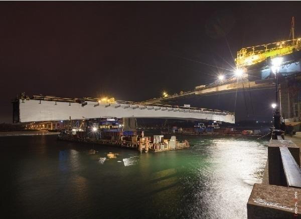 Закончены подготовительные работы по монтажу центрального пролета Ворошиловского моста