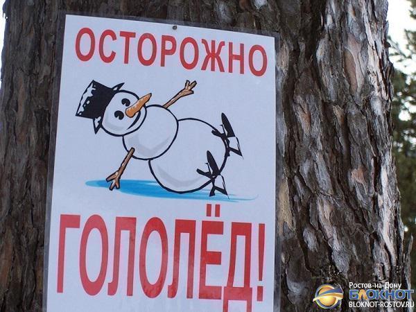 В Ростове ночью, 25 октября, прогнозируют гололедицу и падение деревьев