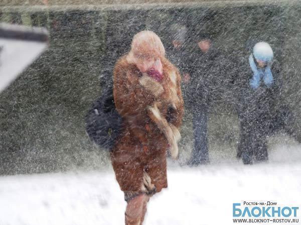 В Ростовской области ожидаются снег и сильный ветер
