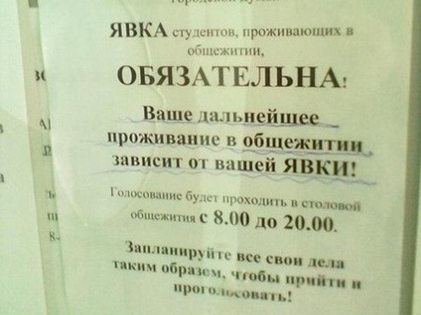 Ростовских студентов обязали прийти на выборы под угрозой выселения из общежития