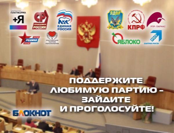 Третье предварительное голосование за баллотирующиеся в Госдуму партии началось