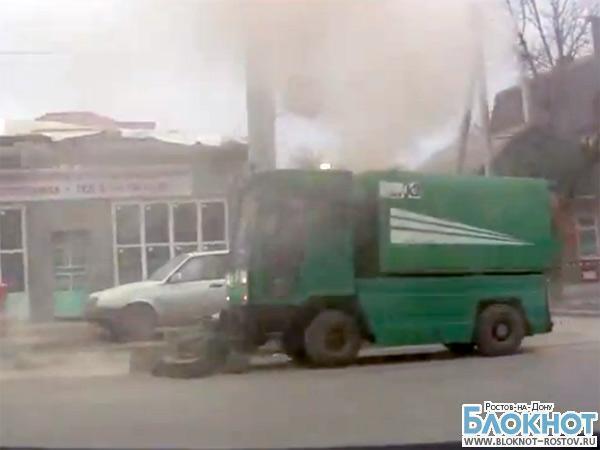 В Ростове вместо уборки улиц спецтехника ЖКХ устраивает пыльные бури (ВИДЕО)
