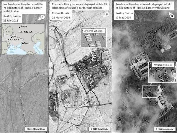 США вновь обнародовали фото российских войск в Ростовской области на границе с Украиной
