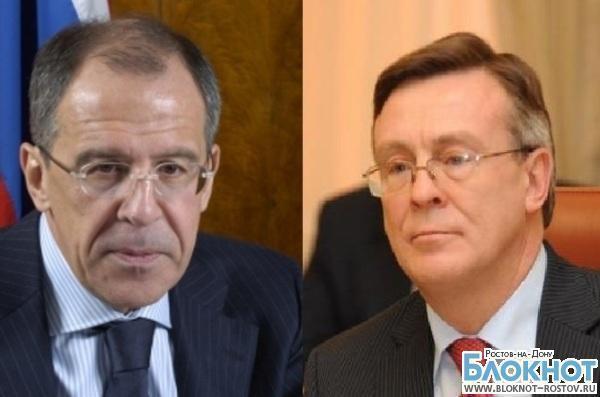 В Ростове пройдет встреча Сергея Лаврова с главой МИД Украины Леонидом Кожарой
