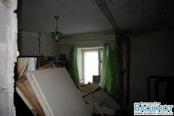В Ростове из-за взрыва газа в жилом доме обрушилась стена
