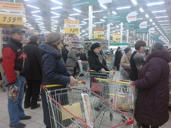 Гипермаркет «О'КЕЙ» оставил ростовчан без акционных товаров: сотни покупателей провели в магазине несколько часов