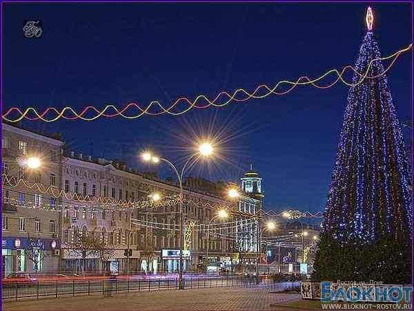 В Ростове возле главной елки праздничные мероприятия продлятся до 8 января