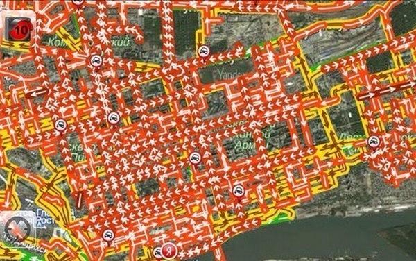 В Ростове самая длинная пробка растянулась почти на 12 километров