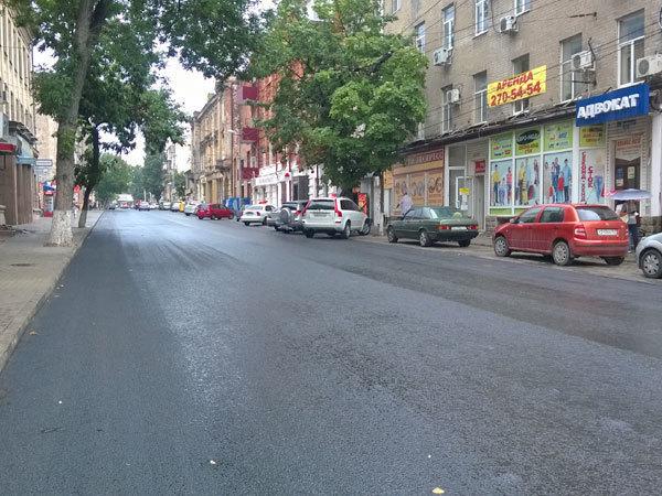 В центре Ростова на ряде улиц завершился ремонт дорог