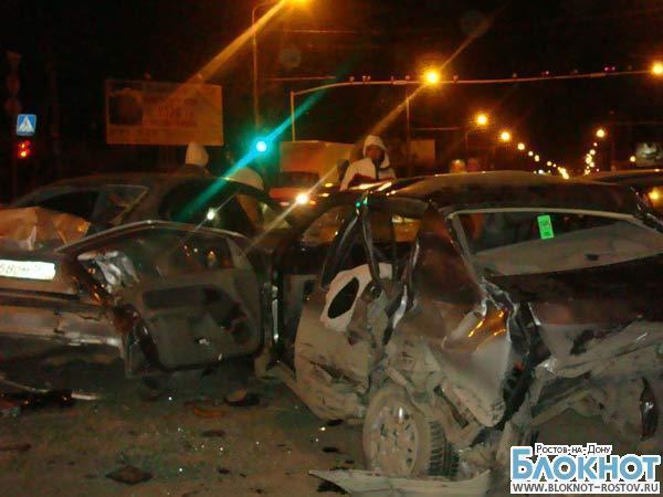 В Ростове-на-Дону на проспекте Стачки столкнулись шесть автомобилей