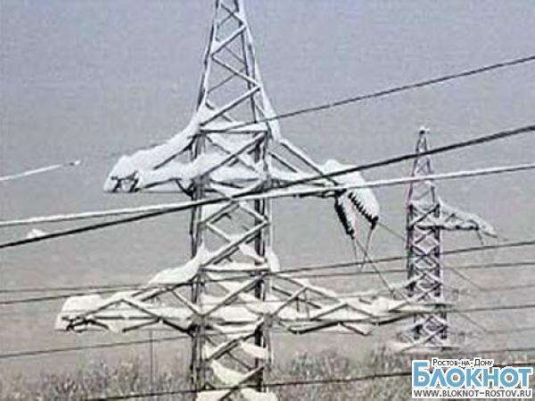 В семи районах Ростовской области из-за непогоды нет электричества