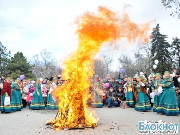 В масленичные выходные в Ростове-на-Дону проводили зиму