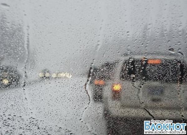 Из-за непогоды в Ростове днем возникли большие пробки