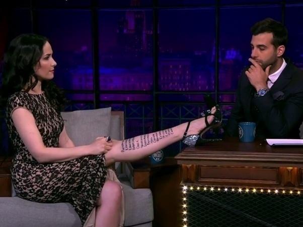 Наталья Орейро показала «татуировку» «Ростов-на-Дону» на своей ноге. Видео