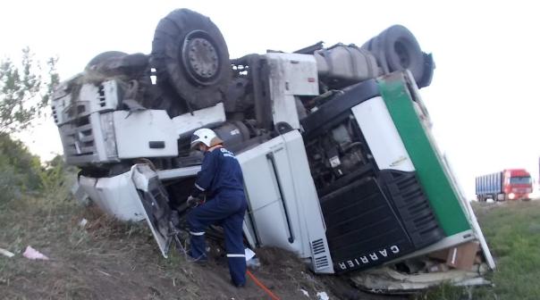 Из-за разорвавшегося колеса натрассе «Дон» умер 30-летний шофёр