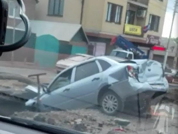 ВРостове «КАМАЗ» протаранил 5 машин
