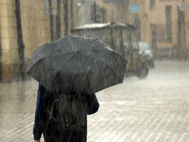 Штормовое предупреждение из-за сильных ливней объявлено в Ростовской области