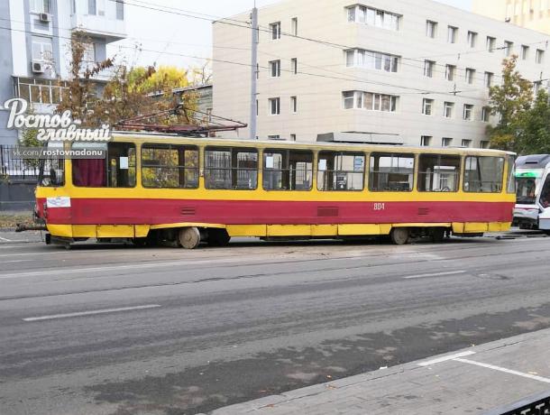 Очередной трамвай сошел с рельс в Ростове