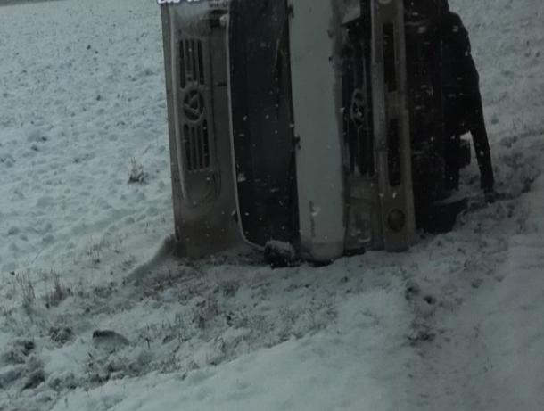 Из-за выпавшего снега сразу 4 ДТП случилось натрассе под Ростовом