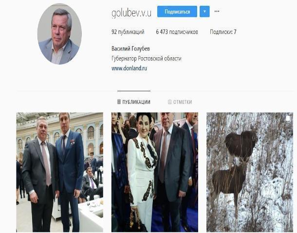 Аналитики раскритиковали Instagram Василия Голубева