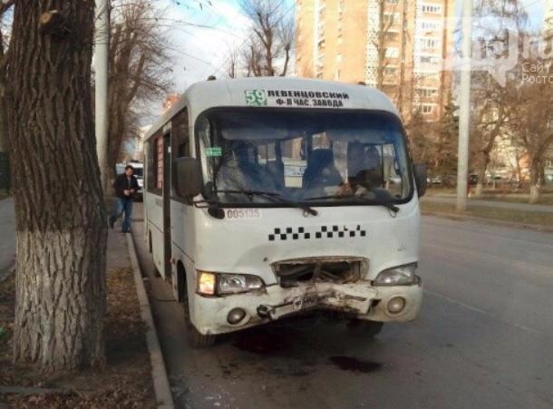 ВРостове наСельмаше столкнулись 5 иномарок имаршрутка №59