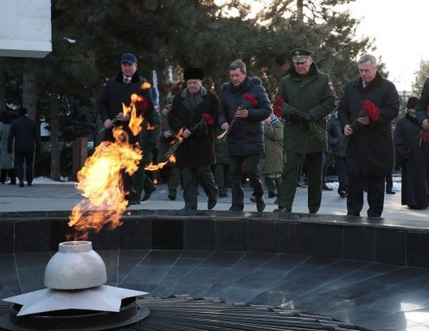 Впервые в Ростове-на-Дону на торжествах у Вечного огня не было ветеранов-фронтовиков