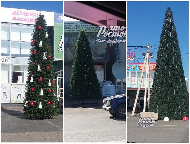 В Ростове на рынке «Атлант» установили новогоднюю ель