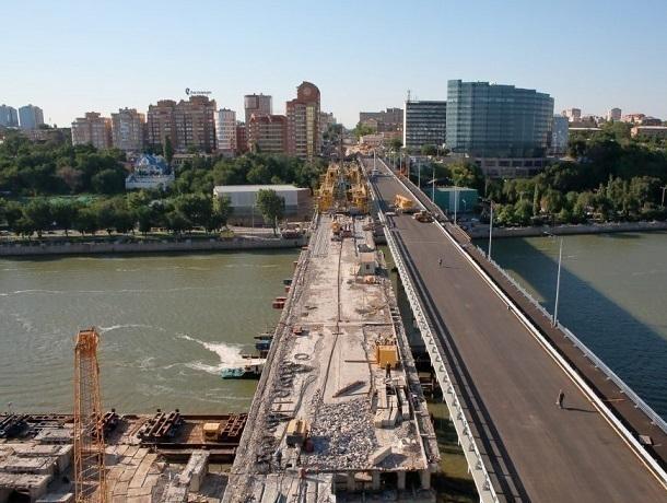 Строительная готовность Ворошиловского моста достигла 90%
