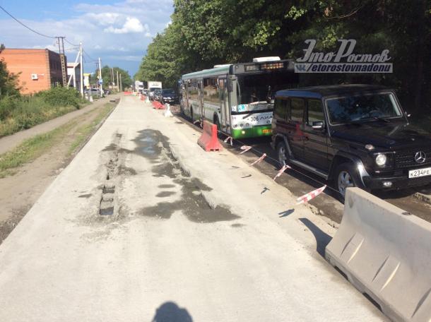 Ростов: шофёр «Тойоты» застрял вжидком бетоне наКаскадной