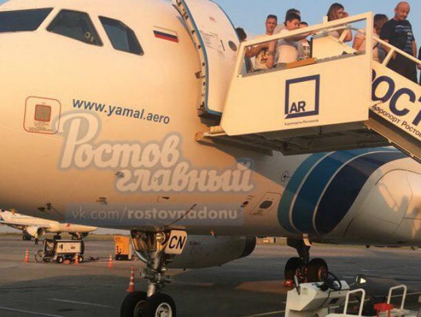 ВРостове-на-Дону неисправный лайнер удачно вернулся ваэропорт